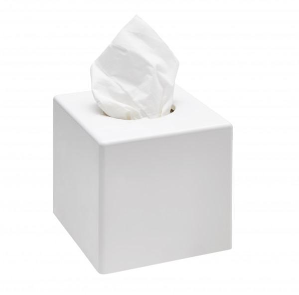 Kosmetiktuchspender Quatratisch Weiß
