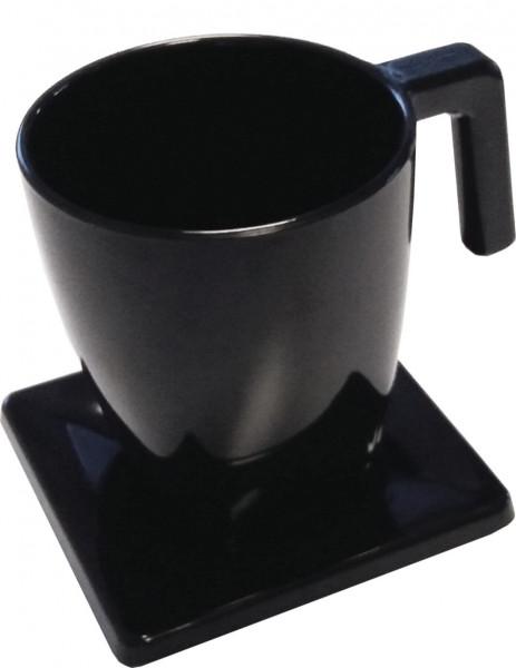 Tassenset 200 ml mit Untertasse schwarz